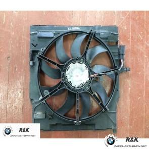 Кожух вентилятора с вентилятором на BMW X5 seria E70/17428618242